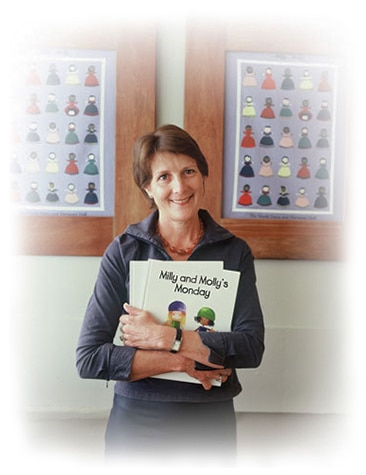 Gill Pittar, author of the original Milly, Molly books