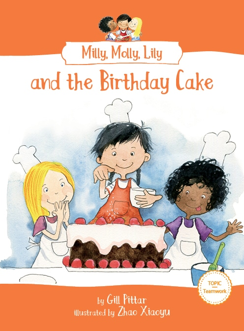 Milly, Molly, Lily and the Birthday Cake book cover